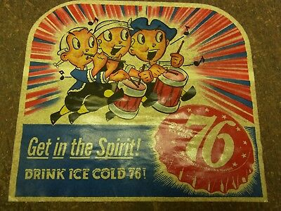 Vintage Nos 5 1/2 X 6 Get In The Spirit 76 Soda Pop Decal For Display