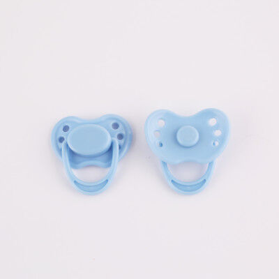 Blue Dummy Magnetic Pacifier Reborn Baby Doll Kits Internal Magnet Accessories
