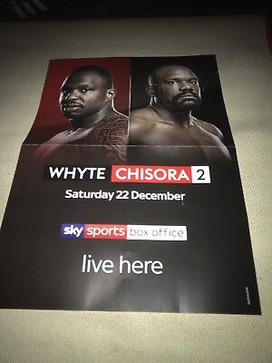 WHYTE v CHISORA 2 BOXING POSTER. SATURDAY 22nd DECEMBER 2018.