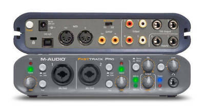 M-Audio Fast Track PRO audio recording interface with Pro Tools MP 9 DVD disc