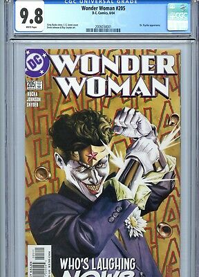 Wonder Woman #205 CGC 9.8 White Pages Joker Cover DC Comics 2004