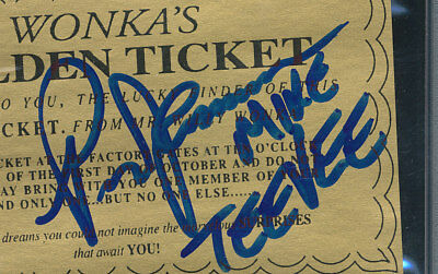 Mike Tee Vee Autograph Golden Ticket Paris Themmen Willy Wonka Factory Psa Dna