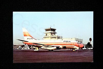 PSA Vintage Postcard 737-214 Pacific Southwest Airlines N984PS NEW Gift RARE
