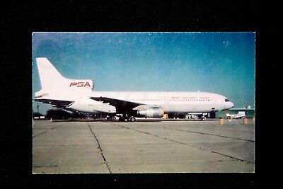 PSA Vintage L-1011 1986 Postcard Pacific Southwest Airlines NEW 455/500 Gift