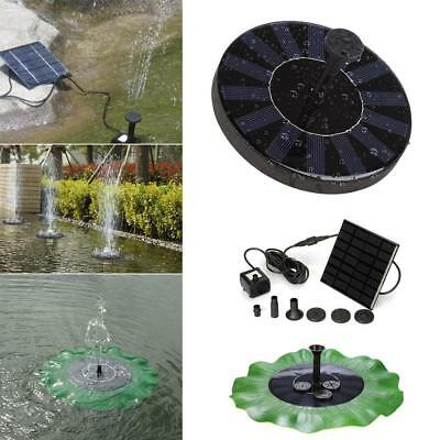 7V 1.4W Solar Panel Floating Fountain Garden Pool Pond Water Pump Kit Outdoor BG