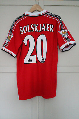 MAN UNITED SHIRT 1998 1999 SOLSKJAER  Shirt Jersey MANCHESTER UTD RETRO MEDIUM