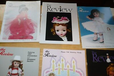 "6 Madame Alexander  Doll Club ""the Review"" Catalog Magazine Brochure 1990's"