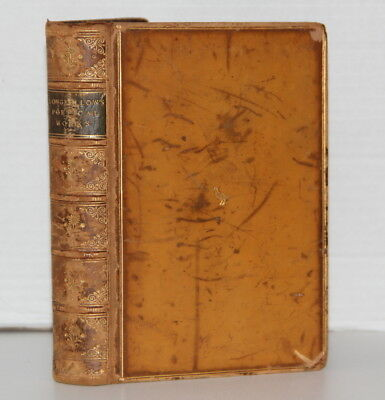 Longfellow Poems 1869 Calf Leather – Henry Bewley, Cheshire, Repton School Derby
