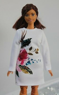 №184 Clothes for Curvy Barbie Doll. Dress for Dolls