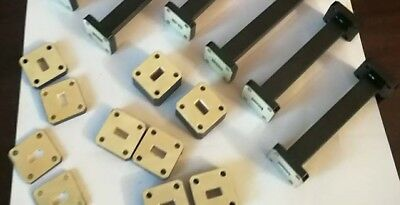 WR28 / WR34 / WR42 / WR51 waveguide spacers shims up to 40 GHz silver plate