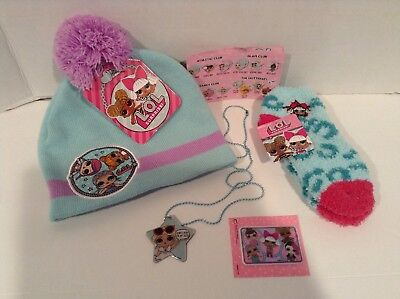 Lol Surprise Beannie Hat Socks Fashion Tag And Sticker NWT