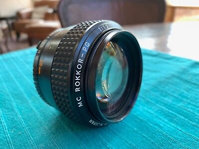 Minolta MC Rokkor 58mm F1.2 MF Lens in Excellent Condition. Lightly used,.
