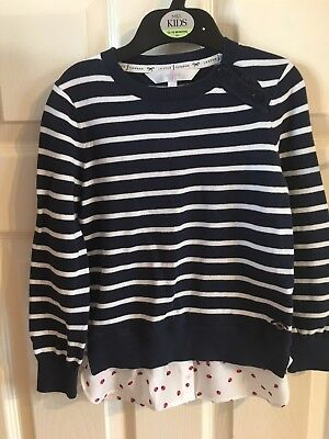 Jasper Conran Shirt Jumper - Age 5-6 Years in Excellent Condition