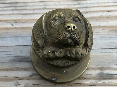 Vtg Art Deco Nouveau Dog Lab Labrador Retriever Door Knob Doorknob Brass