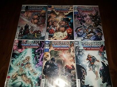 INJUSTICE vs. MASTERS OF THE UNIVERSE #1 2 3 4 5 6  - DC  FULL SET #1-6  BOARDED
