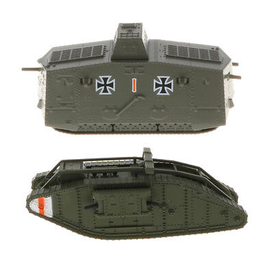 1/100 Tank WWI German A7V Panzer, UK Mark MK. IV Male British Army Model Toy