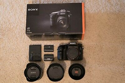 Sony Alpha a77 II 24.3MP Digital SLR Camera - Black (Body + Lenses and more!)