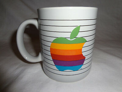 Apple The Most Personal Computer Vintage 1980's Mug Logo Gray