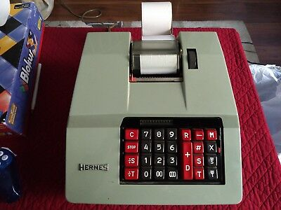 hermes precisa model 167-12 vintage caculator, 1964, perfect condition works.