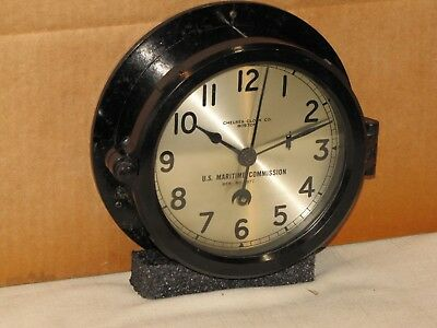 "Chelsea  Vintage Ships  Clock~6"" Dial~U.s.maritime Commission~Ww2~1942~Restored"