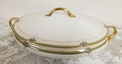 Noritake FIne China - THE ARGONNE Pattern - 11.5 inch Oval Covered Vegetable