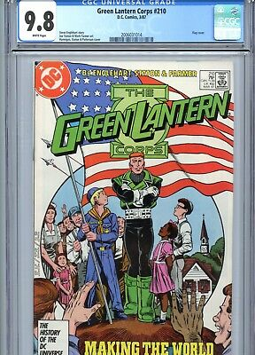 Green Lantern Corps #210 CGC 9.8 White Pages DC Comics 1987