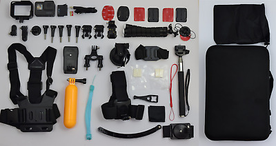 GoPro HERO5 Black Edition 4K HD Action Camera + Many Accessories + 32GB SD card