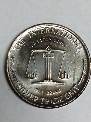 The International Silver Trade Unit One Troy Ounce 31.1 G.999 Fine Silver Coin