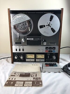 Vintage TEAC A-4300 Reel To Reel Tape Player Recorder Remote Manual