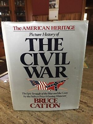 American Heritage Picture History of the Civil War 1982 Large Hardcover W/DJ