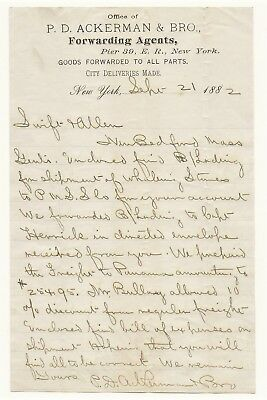 Whaling Document Letter: Shipping Of Whaling Stores Pacific Mail Steamship Co.