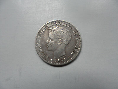 "1896 Puerto Rico 10 Centavos Coin (AU) on Silver """" A Little Silver Beauty """""