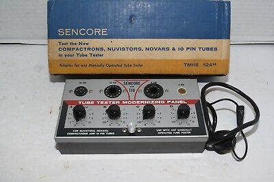 Sencore TM 116 Tube Tester Modernizing Panel for Nuvistors Novars Compactrons