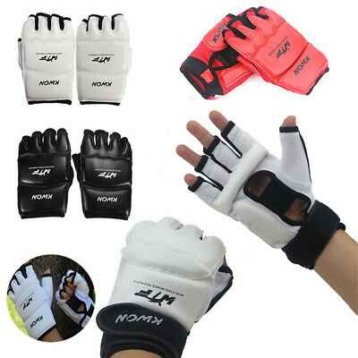 1Pair Half Finger Sandbag Boxing Gloves Oxford Cloth Sports Protective Gear DT