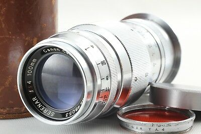 【EXC+++++】Canon Serenar 100mm f/4 Lens w/Case LTM L39 Leica Mount From JAPAN#118