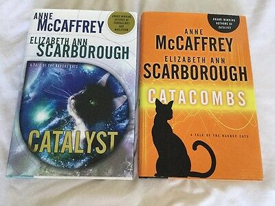 Catalyst & Catacombs by Anne McCaffrey & Elizabeth Scarborough 1st Ed Hardcovers