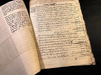Lot Of Four Old Manuscripts 1698