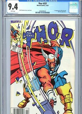 Thor #337 CGC 9.4 White Pages 1st Beta Ray Bill Marvel Comics 1983