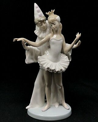 Lladro 4882 CARNIVAL COUPLE LLADRÓ Figurine GLAZED FINISH RETIRED 1995 No Mask