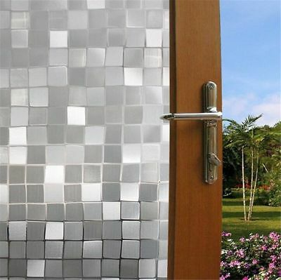 Window Film Frosted 3D Glass Decorative Privacy Home Door Bathroom Cling Tint