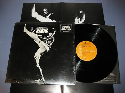 DAVID BOWIE - Man Who Sold The World LP orig RCA in shrink w/POSTER + STICKER