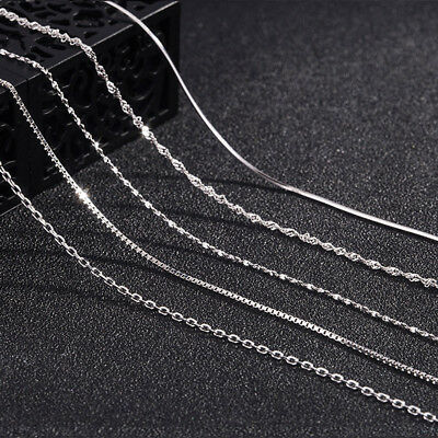 Sterling silver Italian Adjustable chain Necklace 925 1.2mm 14 16 18 inch Gift