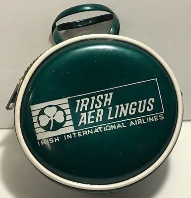 Aer Lingus Irish International Airlines Zippered Coin Purse Miniature Suitcase