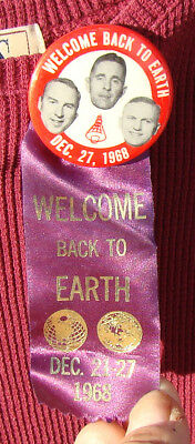 Welcome Back Astronaut Badge / Pin Lovell, Anders, Borman, Dec. 27, 1968  *g*