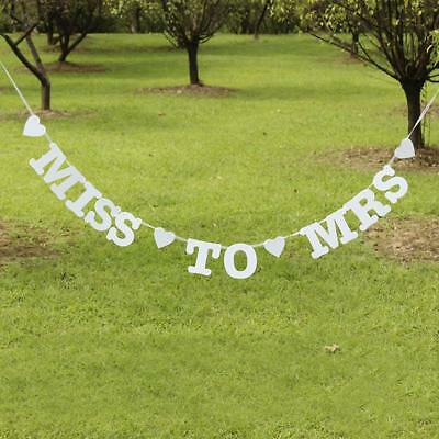 Miss To Mrs Banner Hen's Party Bridal Shower Bachelorette Party Night Decoration