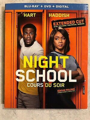 Night School Extended Cut Blu Ray & DVD w Slip Cover Canada Bilingual LOOK