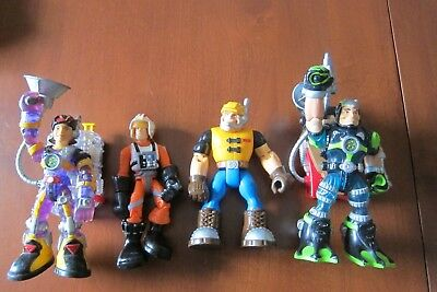 Set/4 Rescue Heroes Action Figures