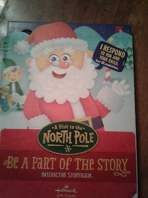 Hallmark Interactive Storybook A Visit to the North Pole XKT1070 Hardcover