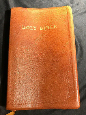 RARE Cambridge KJV HOLY BIBLE Antique French Morocco Cover Turquoise India Paper