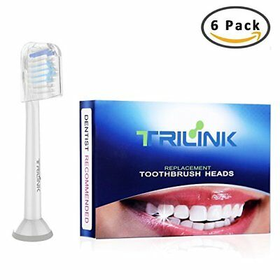 6 Pack Replacement Electric Toothbrush Heads for Philips Sonicare , DiamondClean